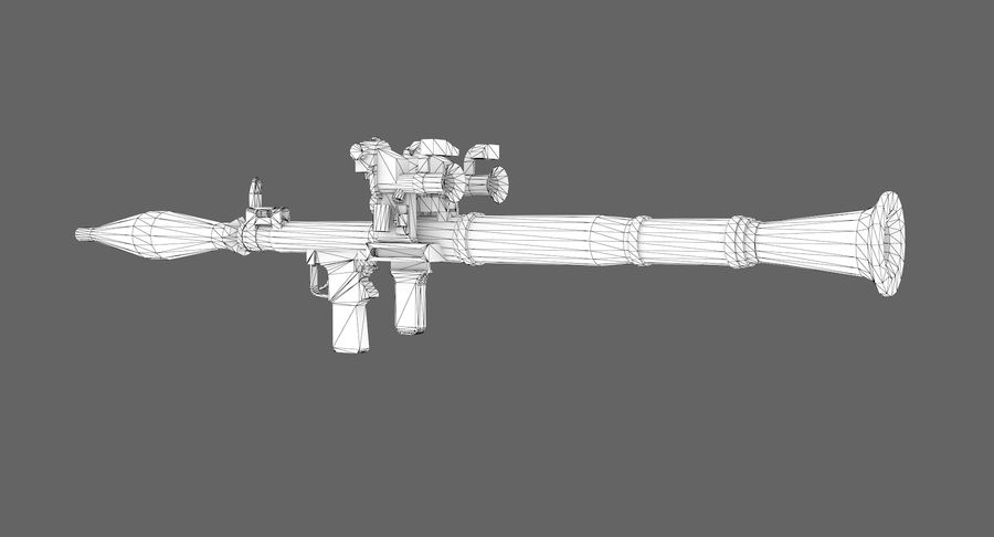 Rocket launcher type 01 royalty-free 3d model - Preview no. 8