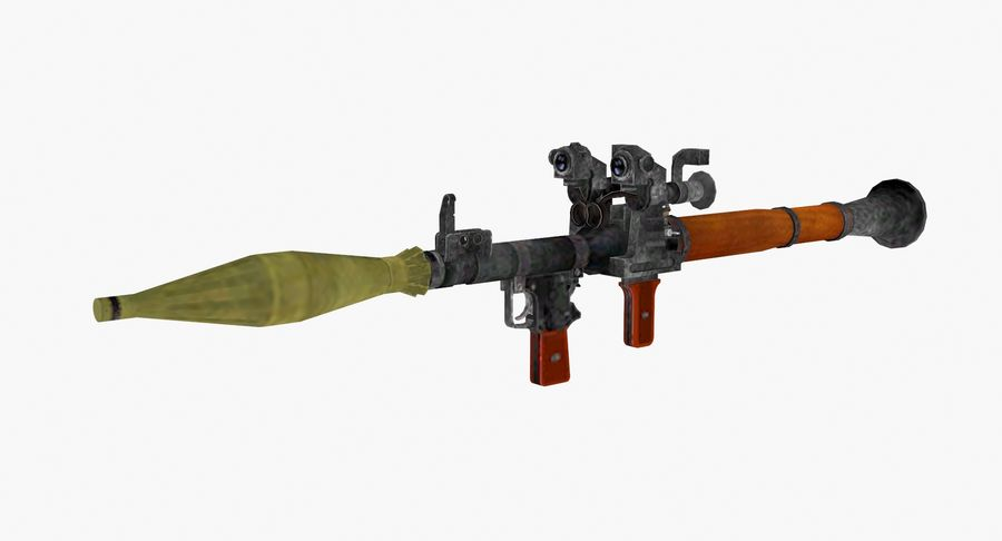 Rocket launcher type 01 royalty-free 3d model - Preview no. 2