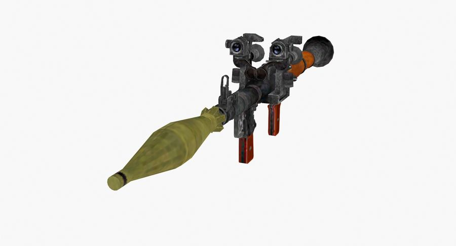 Rocket launcher type 01 royalty-free 3d model - Preview no. 4