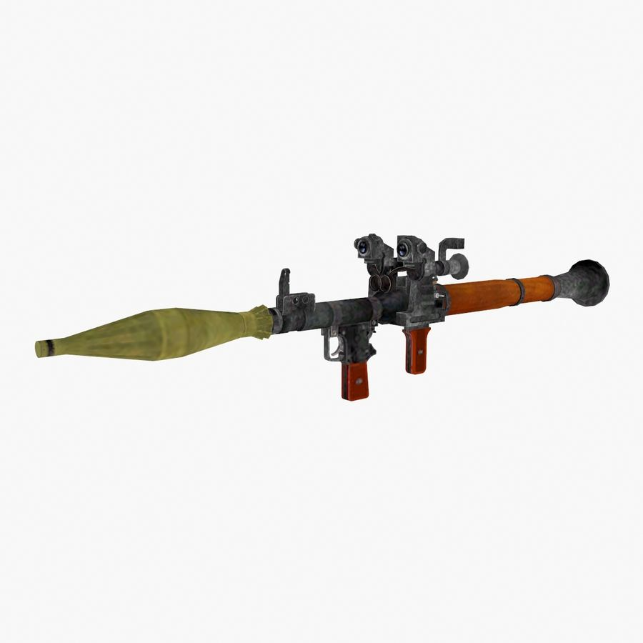 Rocket launcher type 01 royalty-free 3d model - Preview no. 1