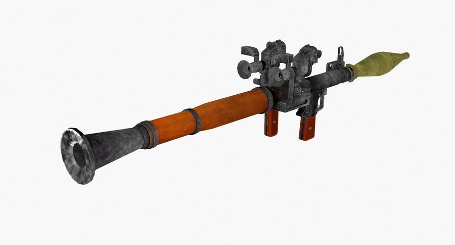 Rocket launcher type 01 royalty-free 3d model - Preview no. 5