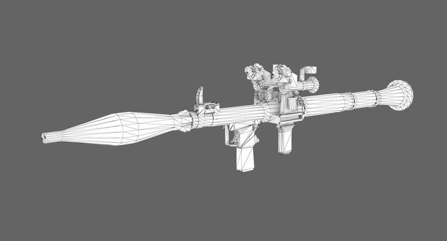 Rocket launcher type 01 royalty-free 3d model - Preview no. 7