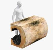 Стол из бревен 3d model
