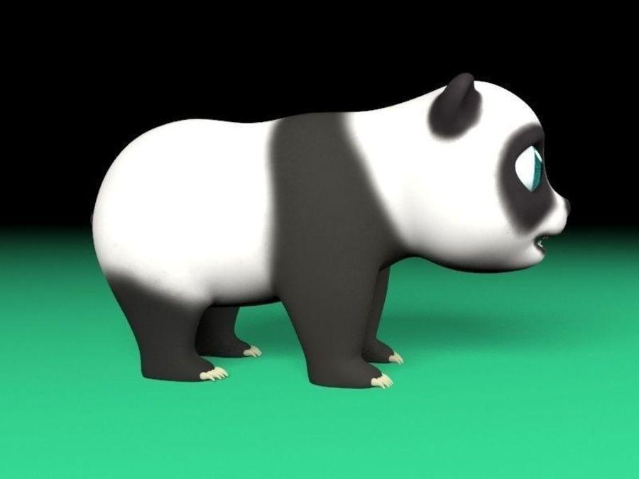 cartoon panda royalty-free 3d model - Preview no. 2