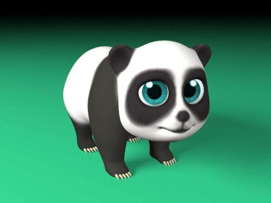 cartoon panda royalty-free 3d model - Preview no. 1