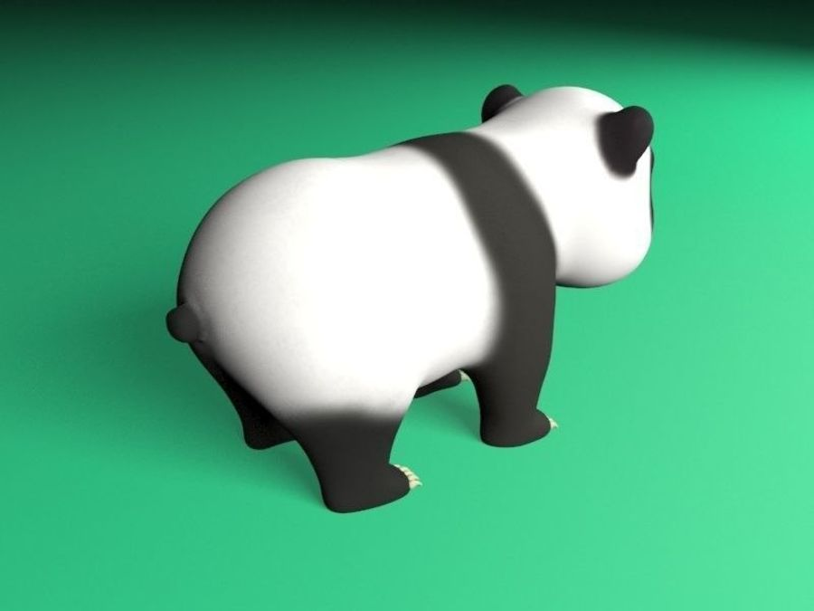 cartoon panda royalty-free 3d model - Preview no. 4