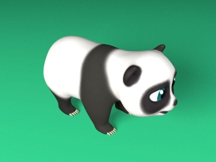 cartoon panda royalty-free 3d model - Preview no. 3