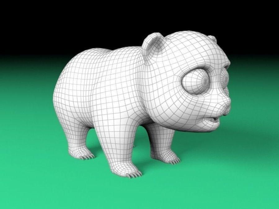 cartoon panda royalty-free 3d model - Preview no. 6