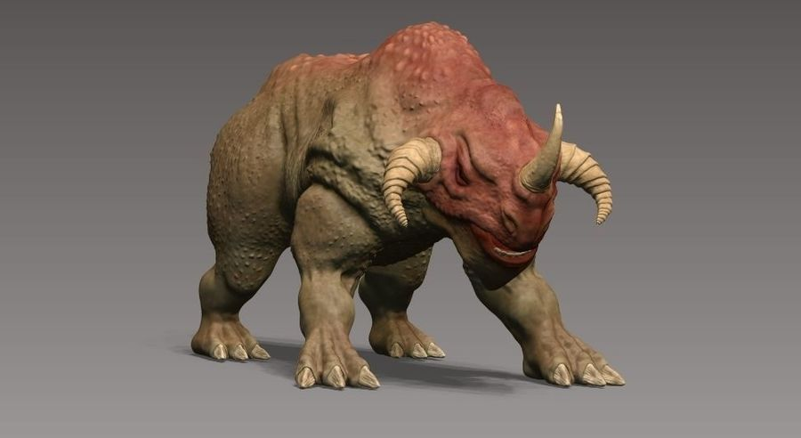 rhino monster royalty-free 3d model - Preview no. 5