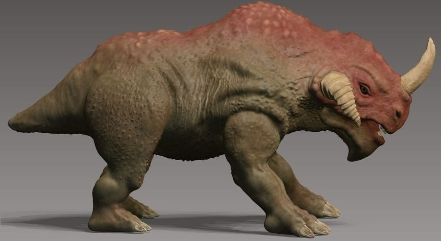 rhino monster royalty-free 3d model - Preview no. 2