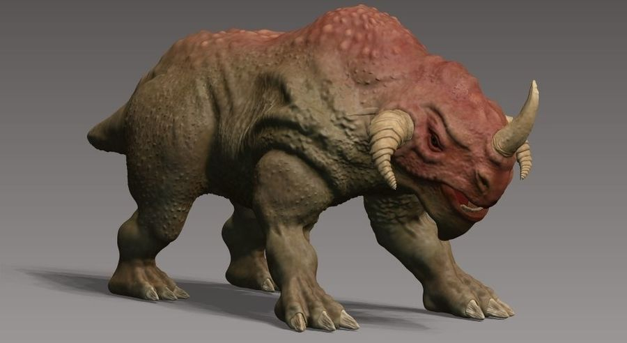 rhino monster royalty-free 3d model - Preview no. 1
