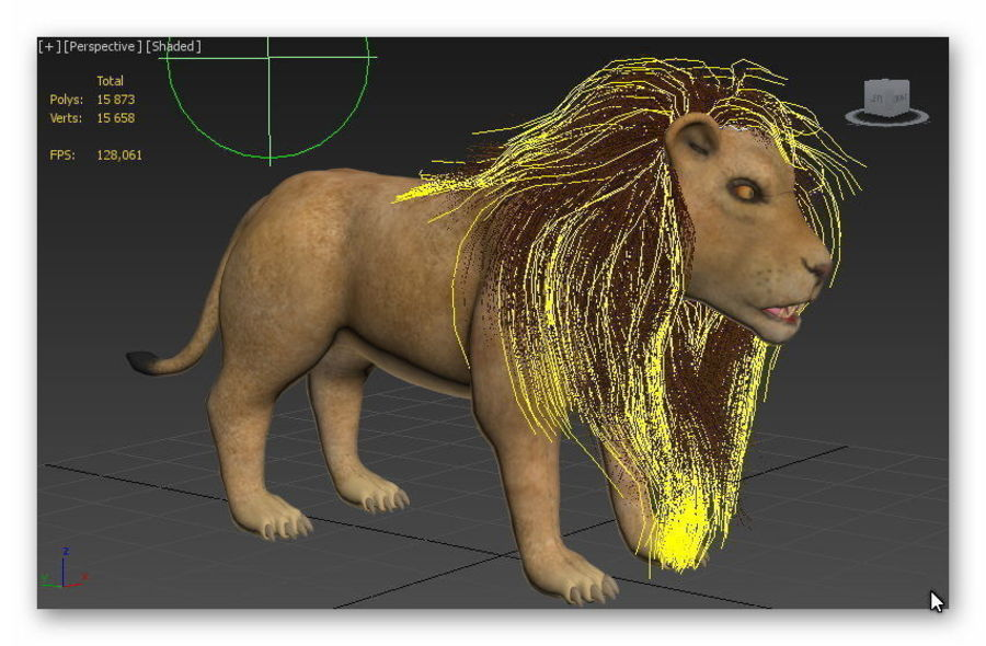 lion and lioness royalty-free 3d model - Preview no. 10