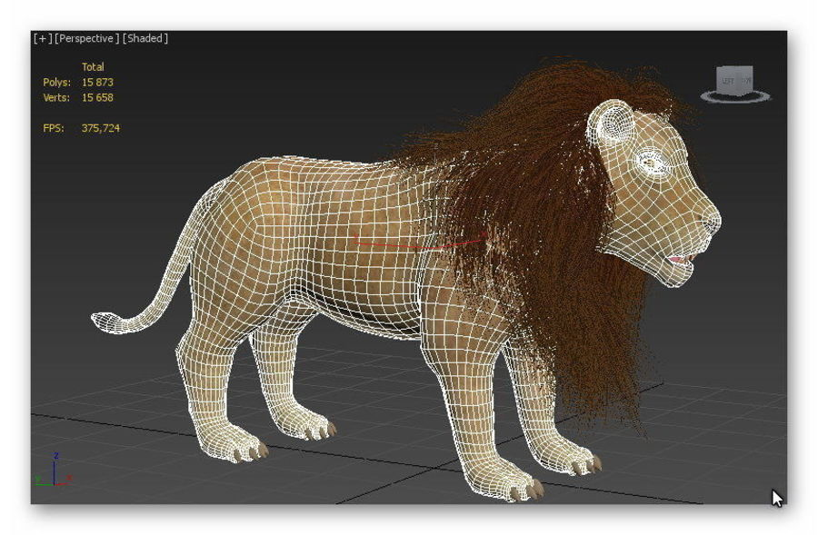 lion and lioness royalty-free 3d model - Preview no. 9