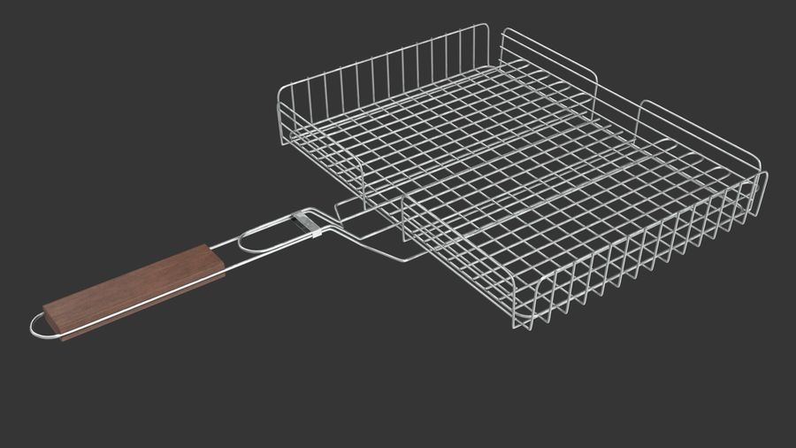 Grill Basket royalty-free 3d model - Preview no. 2
