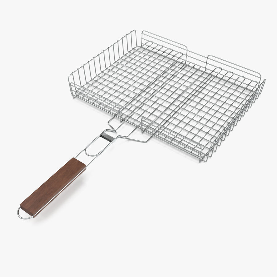 Grill Basket royalty-free 3d model - Preview no. 1