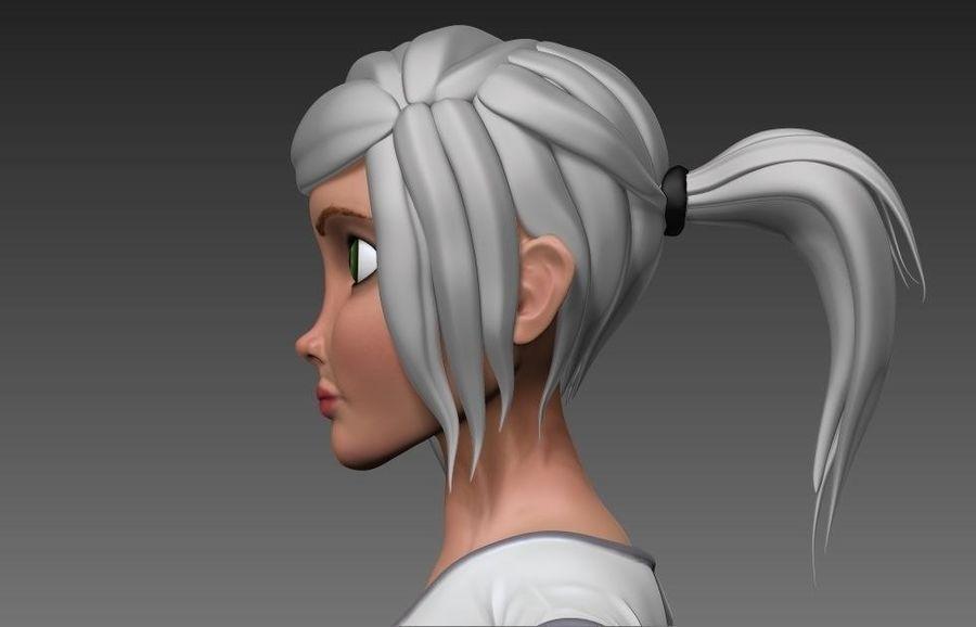 cartoon woman royalty-free 3d model - Preview no. 3