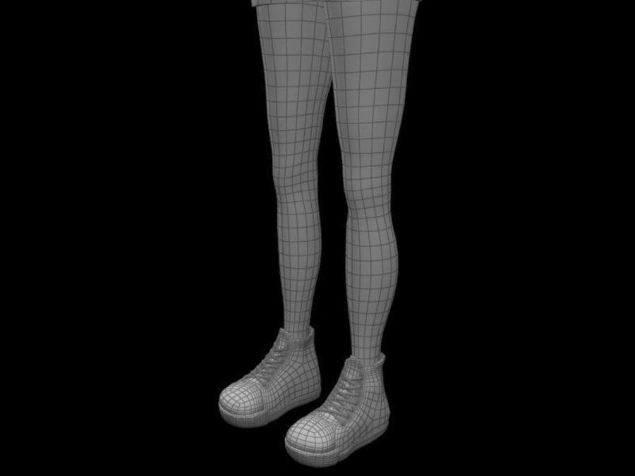 cartoon woman royalty-free 3d model - Preview no. 11