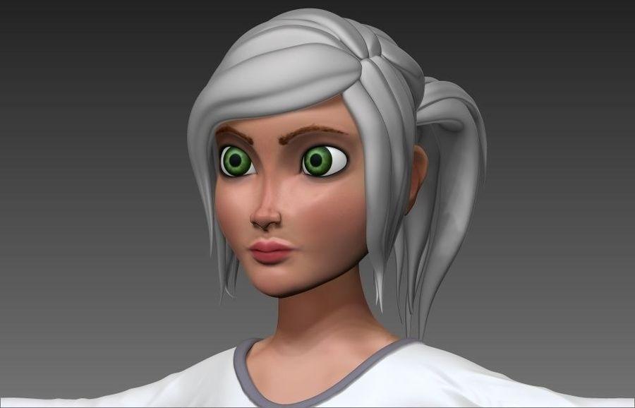 cartoon woman royalty-free 3d model - Preview no. 2
