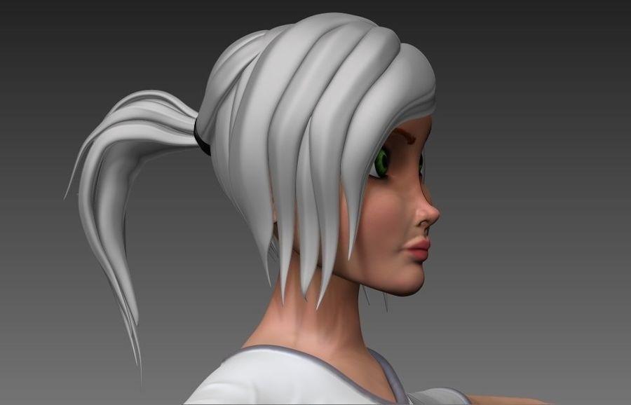 cartoon woman royalty-free 3d model - Preview no. 5