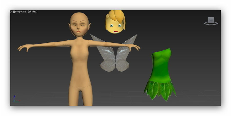 tinkerbell fairy royalty-free 3d model - Preview no. 6