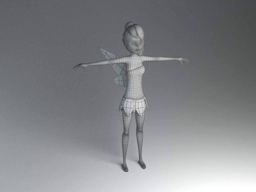 tinkerbell fairy royalty-free 3d model - Preview no. 8