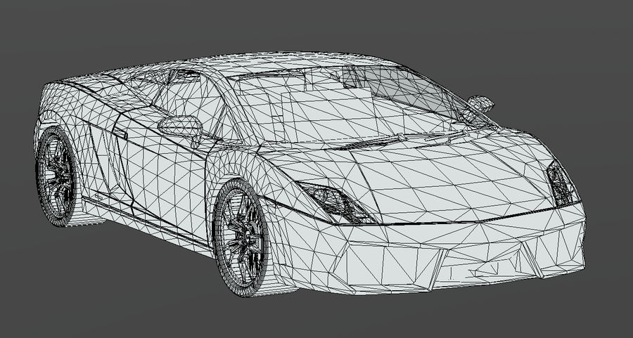 Lamborghini Gallardo royalty-free 3d model - Preview no. 12