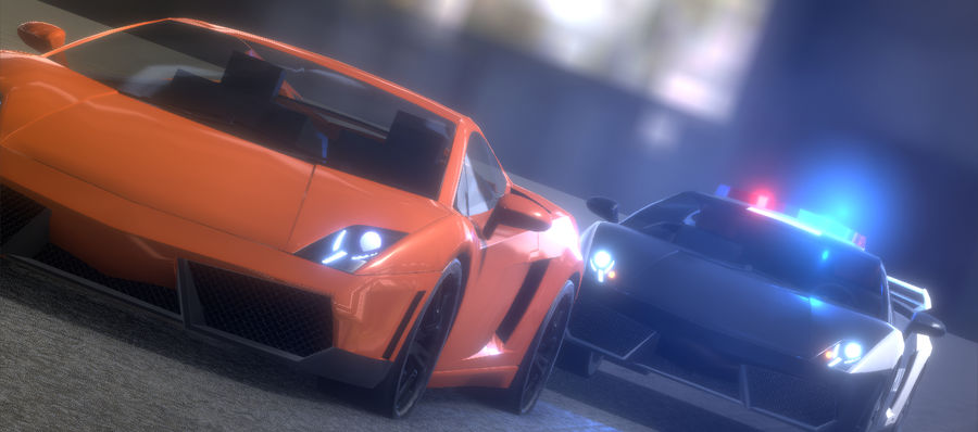 Lamborghini Gallardo royalty-free 3d model - Preview no. 1