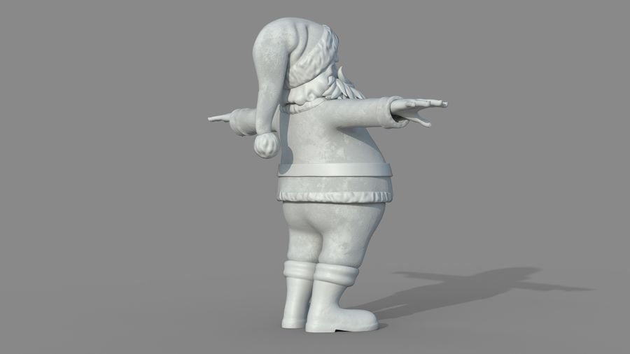 Personnage - Santa Claus Rigging royalty-free 3d model - Preview no. 22