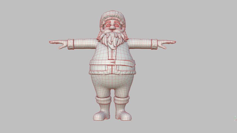 Santa Claus royalty-free 3d model - Preview no. 33