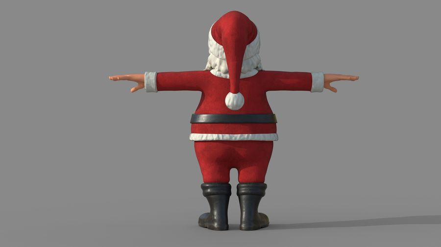 Personnage - Santa Claus Rigging royalty-free 3d model - Preview no. 6