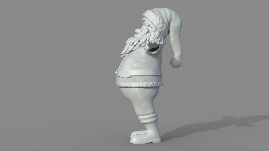 Personnage - Santa Claus Rigging royalty-free 3d model - Preview no. 19