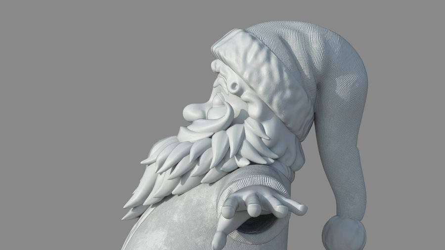 Personnage - Santa Claus Rigging royalty-free 3d model - Preview no. 27