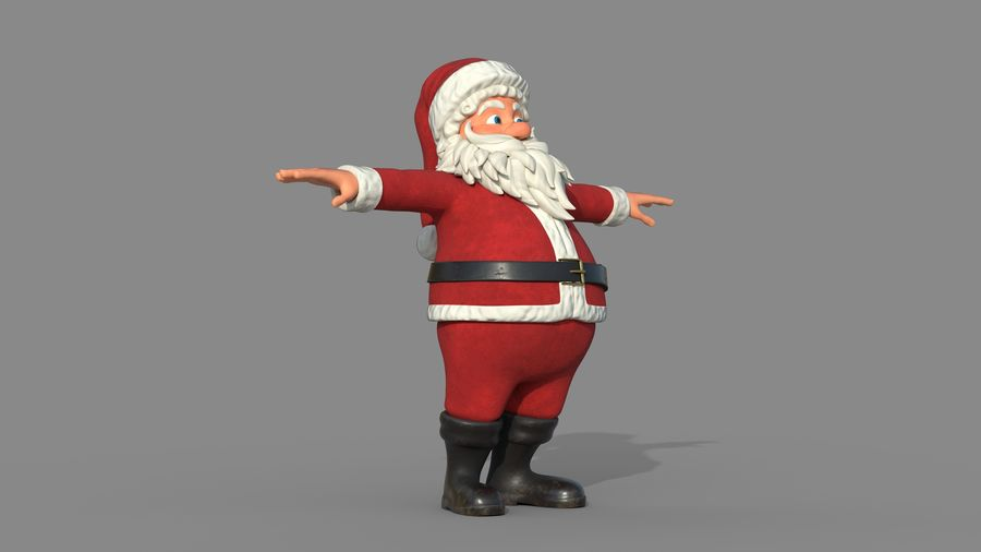 Personnage - Santa Claus Rigging royalty-free 3d model - Preview no. 9