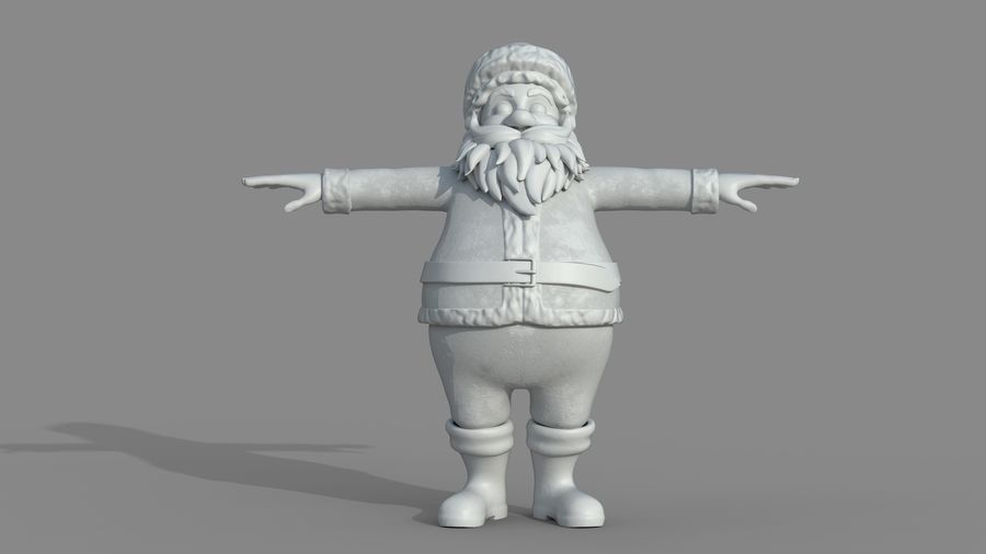 Personnage - Santa Claus Rigging royalty-free 3d model - Preview no. 17