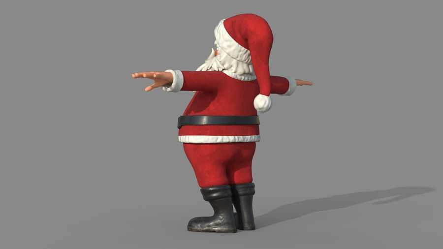 Personnage - Santa Claus Rigging royalty-free 3d model - Preview no. 5