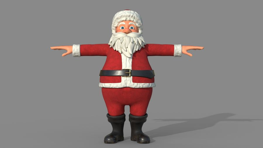Personnage - Santa Claus Rigging royalty-free 3d model - Preview no. 2