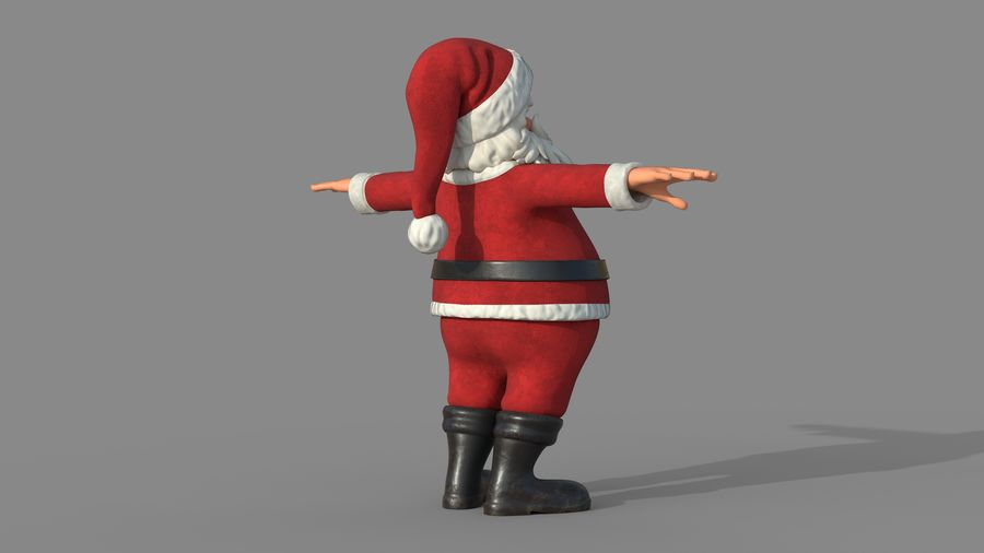 Personnage - Santa Claus Rigging royalty-free 3d model - Preview no. 7
