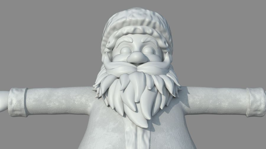 Personnage - Santa Claus Rigging royalty-free 3d model - Preview no. 25
