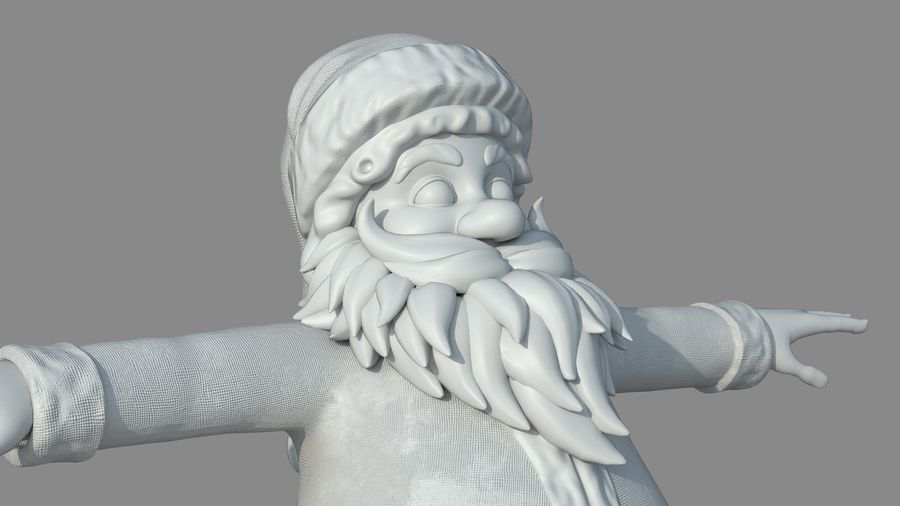 Personnage - Santa Claus Rigging royalty-free 3d model - Preview no. 32