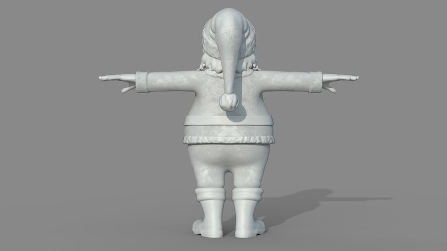 Personnage - Santa Claus Rigging royalty-free 3d model - Preview no. 21