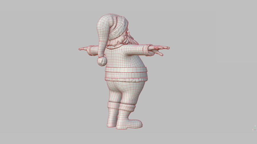 Personnage - Santa Claus Rigging royalty-free 3d model - Preview no. 38