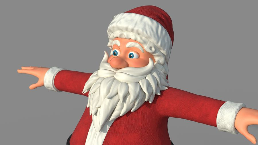 Personnage - Santa Claus Rigging royalty-free 3d model - Preview no. 1
