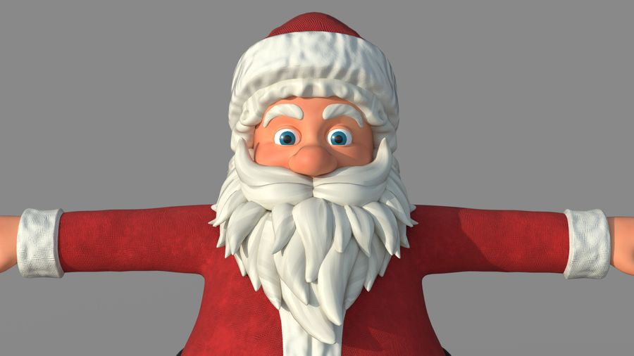 Personnage - Santa Claus Rigging royalty-free 3d model - Preview no. 10