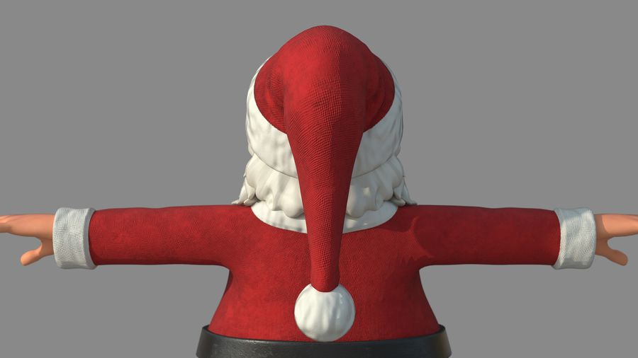 Personnage - Santa Claus Rigging royalty-free 3d model - Preview no. 13