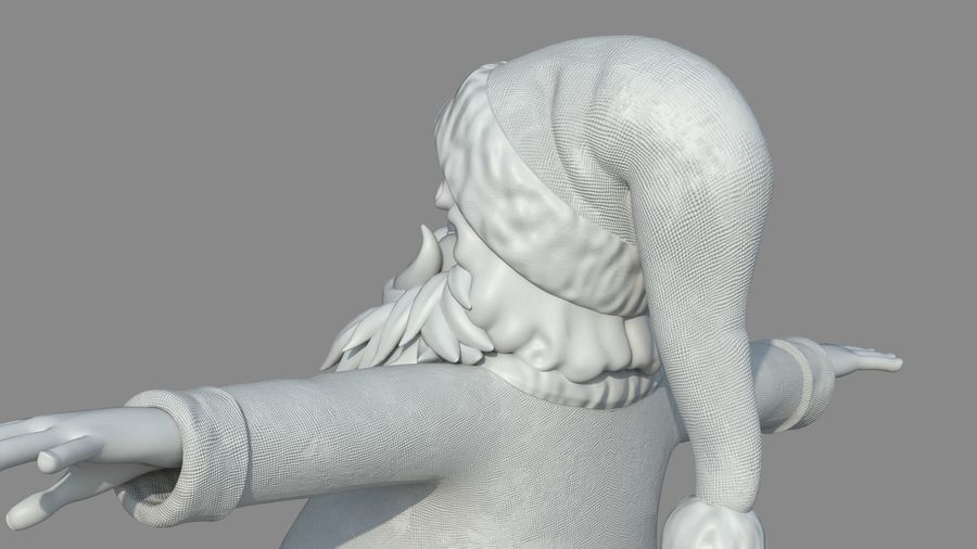 Personnage - Santa Claus Rigging royalty-free 3d model - Preview no. 28