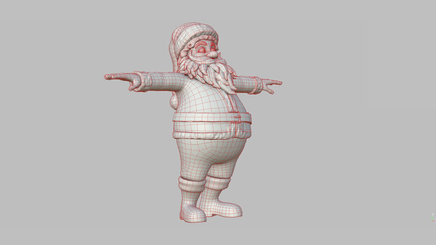 Personnage - Santa Claus Rigging royalty-free 3d model - Preview no. 40