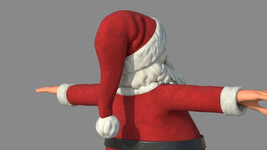 Personnage - Santa Claus Rigging royalty-free 3d model - Preview no. 14