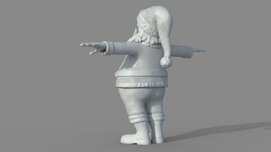Personnage - Santa Claus Rigging royalty-free 3d model - Preview no. 20