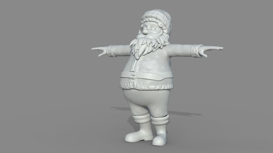 Personnage - Santa Claus Rigging royalty-free 3d model - Preview no. 18