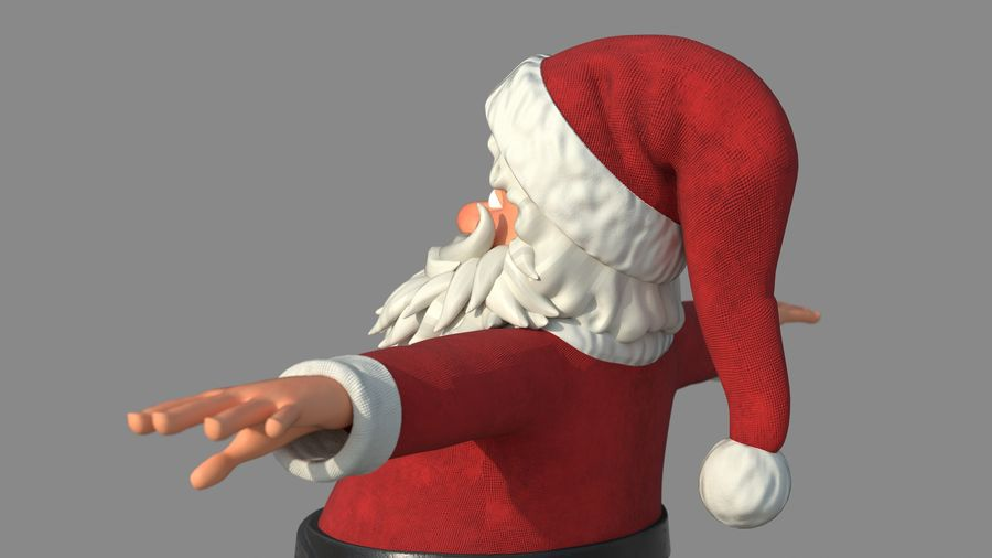 Personnage - Santa Claus Rigging royalty-free 3d model - Preview no. 12